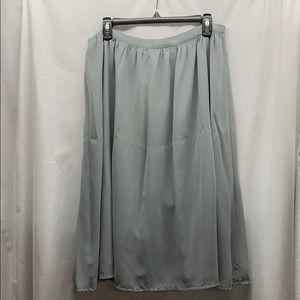 Grey below knee skirt